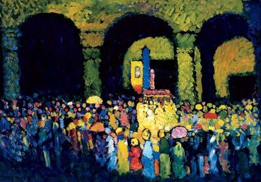 Wassily Kandinsky. Dans l'église.